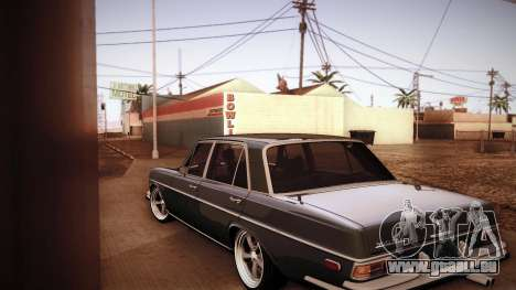 Mercedes Benz 300 SEL - Custom RC3D Edit für GTA San Andreas zurück linke Ansicht
