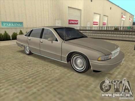 Chevrolet Caprice 1991 pour GTA San Andreas laissé vue