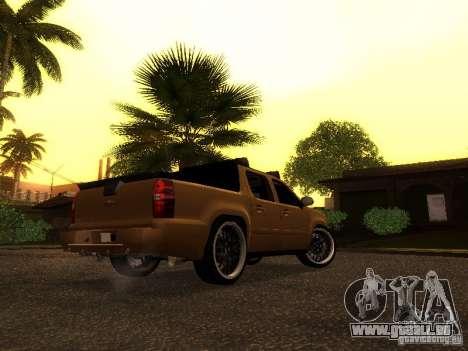 Chevrolet Avalanche Tuning pour GTA San Andreas sur la vue arrière gauche