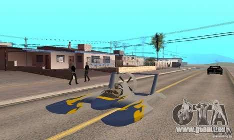 Hydrofoam pour GTA San Andreas vue arrière