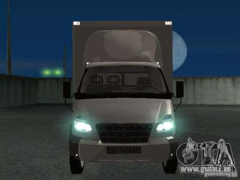 33102 Valday GAZ (long) pour GTA San Andreas vue intérieure