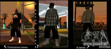 Neue Skins der Los Aztecas Gang für GTA San Andreas