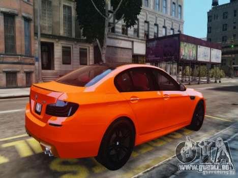 BMW M5 F10 2012 Aige-edit pour GTA 4 est une gauche