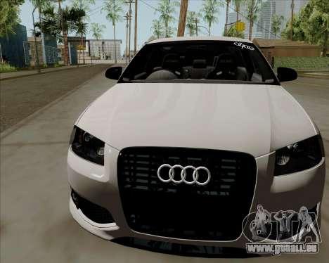 Audi S3 V.I.P pour GTA San Andreas sur la vue arrière gauche