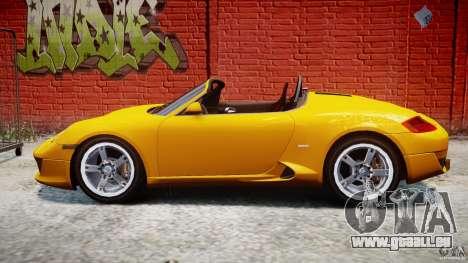Ruf RK Spyder v0.8Beta für GTA 4 linke Ansicht