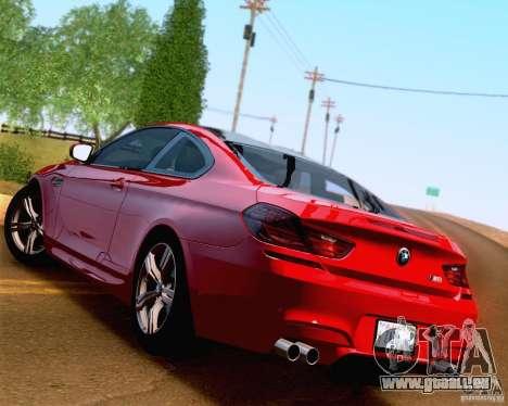 BMW M6 2013 pour GTA San Andreas salon