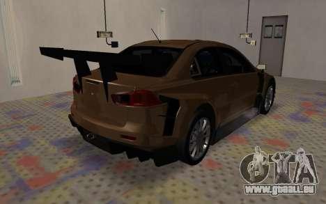 Mitsubishi Lancer Evolution X für GTA San Andreas Seitenansicht