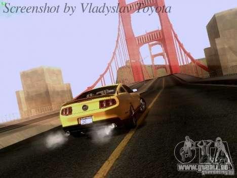 Ford Mustang GT 2011 pour GTA San Andreas laissé vue