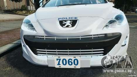 Peugeot 308 GTi 2011 Police v1.1 für GTA 4-Motor