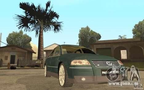 Volkswagen Passat B5 W8 4Motion für GTA San Andreas Rückansicht
