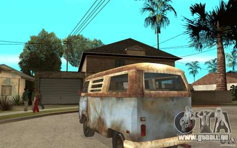 Dharma-Van (VW Typ 2 T2a) für GTA San Andreas zurück linke Ansicht