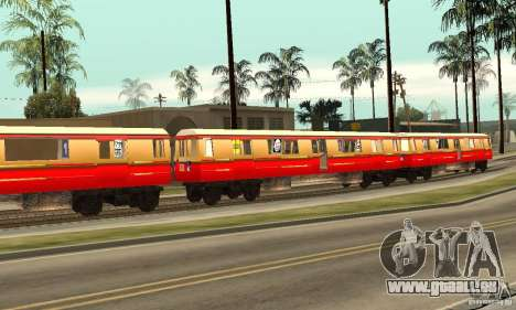 Liberty City Train DB pour GTA San Andreas laissé vue