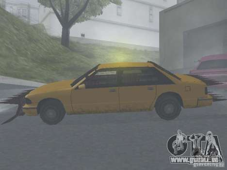 Zombie Taxi für GTA San Andreas zurück linke Ansicht