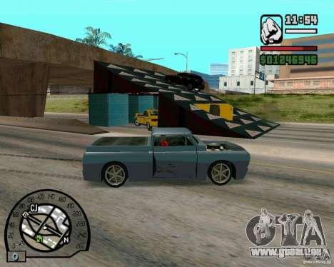 Springt auf der Autobahn in Las Venturase für GTA San Andreas