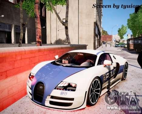 Bugatti Veryon SS COP pour GTA 4 est un droit