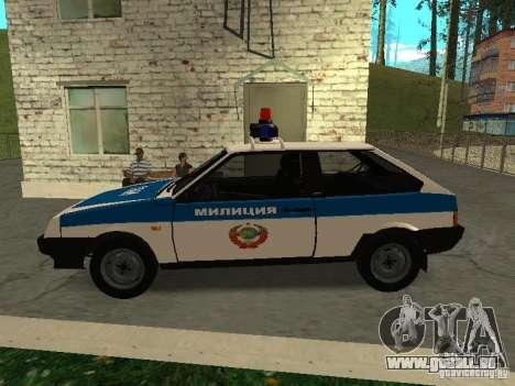 VAZ 2108 Police pour GTA San Andreas laissé vue
