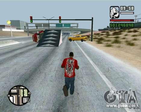 Springt auf der Autobahn in Las Venturase für GTA San Andreas her Screenshot