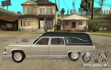 Cadillac Fleetwood 1985 Hearse Tuned für GTA San Andreas linke Ansicht