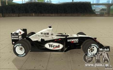 McLaren Mercedes MP 4-19 für GTA San Andreas Innenansicht