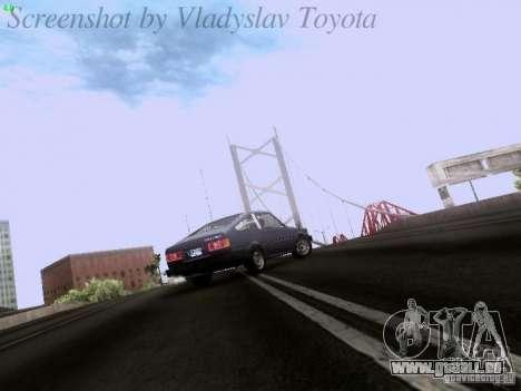 Toyota Corolla TE71 Coupe für GTA San Andreas Innenansicht
