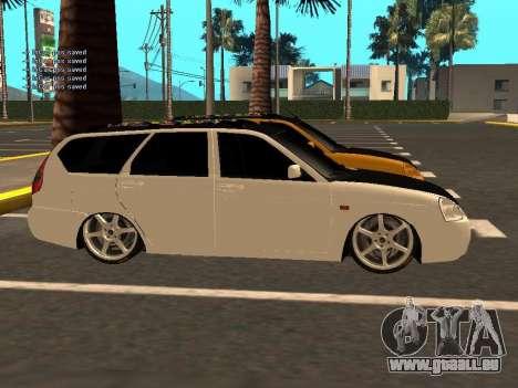Lada Priora berline avec hayon arrière pour GTA San Andreas vue intérieure
