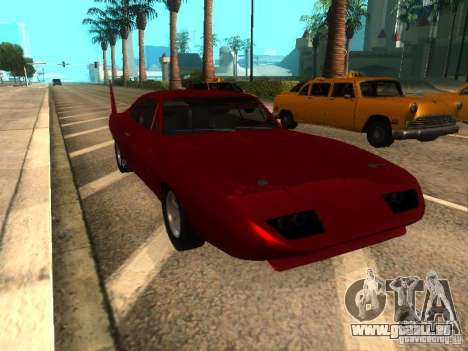 Dodge Charger Daytona Fast & Furious 6 für GTA San Andreas linke Ansicht