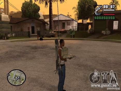 Die Waffe hinter seinem Rücken für GTA San Andreas dritten Screenshot