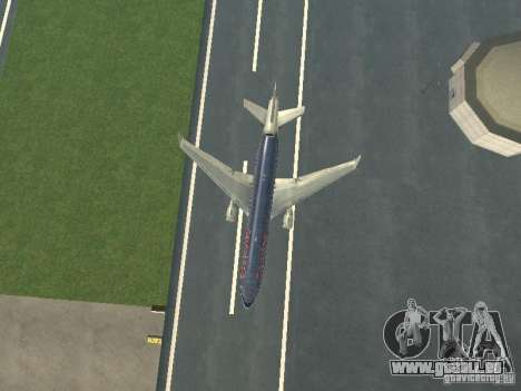 McDonell Douglas MD11 American Airlines für GTA San Andreas obere Ansicht
