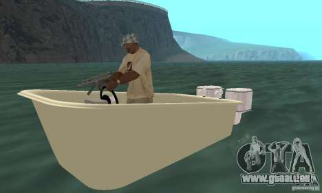 Bathtub Dinghy für GTA San Andreas linke Ansicht