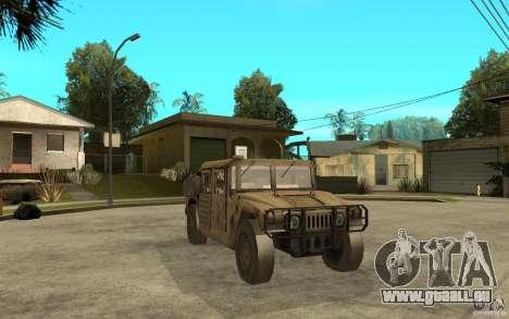 Hummer H1 War Edition für GTA San Andreas Rückansicht