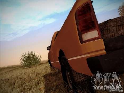 Dodge Ram 1500 4x4 pour GTA San Andreas vue arrière