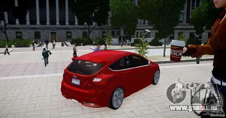 Ford Focus ST 2012 pour GTA 4 Vue arrière de la gauche