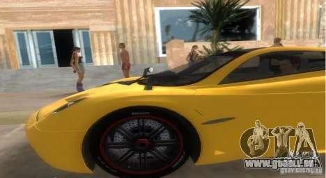 Pagani Huayra für GTA Vice City zurück linke Ansicht