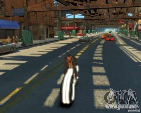 Moto du trône (néon blanc) pour GTA 4 est un droit