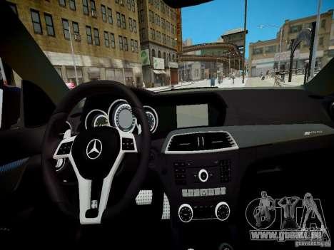 Mercedes-Benz C63 AMG Black Series 2012 v1.0 pour GTA 4 Vue arrière