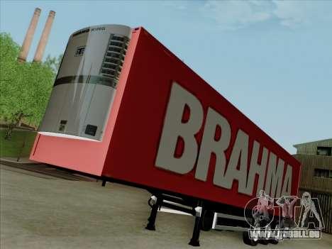 Trailer für Scania R620 Brahma für GTA San Andreas zurück linke Ansicht