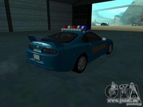 Toyota Supra California State Patrol für GTA San Andreas rechten Ansicht