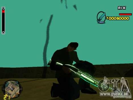 Blue weapons pack pour GTA San Andreas deuxième écran