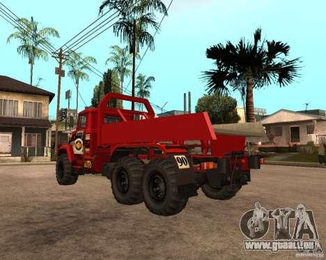 Procès de KrAZ-6322 pour GTA San Andreas vue de droite