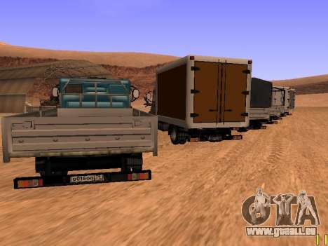 ZIL 5301 Goby pour GTA San Andreas vue de dessous