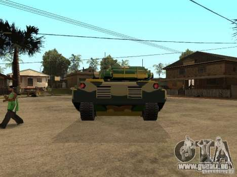 Camouflage pour Rhino pour GTA San Andreas sur la vue arrière gauche