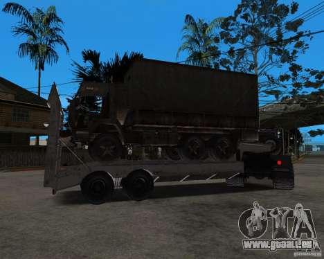 KrAZ 255 + remorque artict2 pour GTA San Andreas vue intérieure