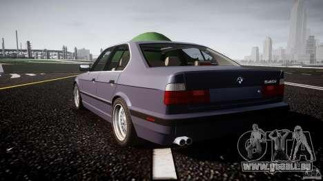 BMW 5 Series E34 540i 1994 v3.0 pour GTA 4 Vue arrière de la gauche