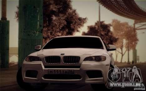 BMW X6M E71 pour GTA San Andreas sur la vue arrière gauche
