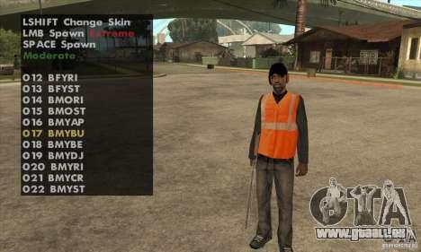 Skin Selector v2.1 pour GTA San Andreas troisième écran