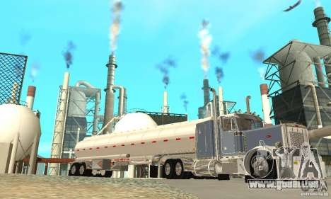 Peterbilt 379 Custom And Tanker Trailer für GTA San Andreas Unteransicht
