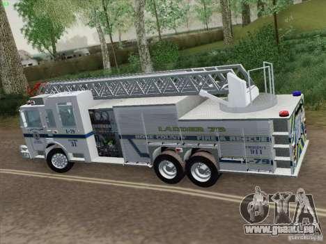 Pierce Puc Aerials. Bone County Fire & Ladder 79 für GTA San Andreas Rückansicht