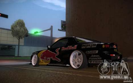 Mazda RX7 Madmikes Redbull pour GTA San Andreas vue de droite