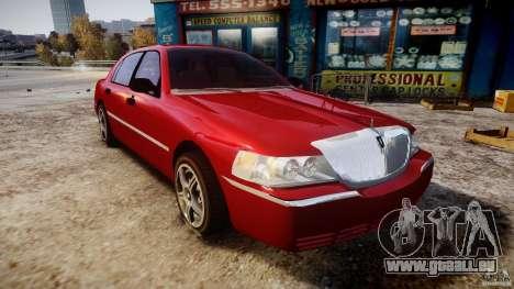 Lincoln Town Car 2003 für GTA 4 Rückansicht