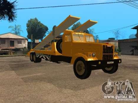 KrAZ 255-Auto-transporter für GTA San Andreas zurück linke Ansicht